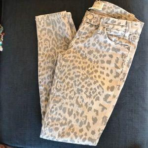 Current Elliot grey leopard jeans